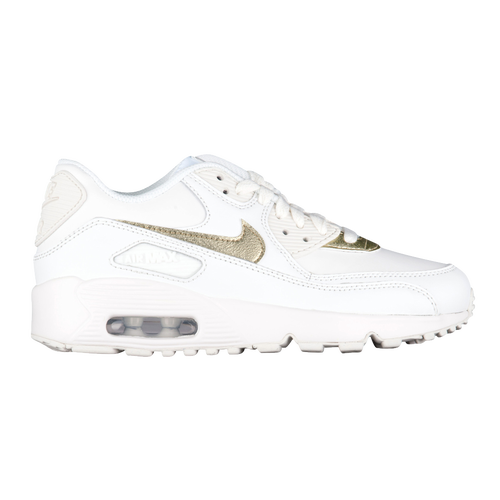 Nike Air Max 90 - Girls' Grade School - Nike - Casual - Atmosphere  Grey/Gunsmoke/White | Cheetah Chic