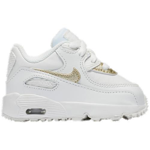 e0f191bd9e6 Nike Air Max 90 - Girls  Toddler - Running - Shoes - Summit White Met Gold  Star