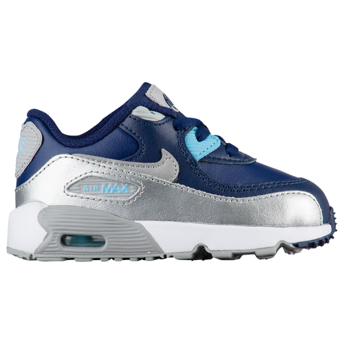 Nike Air Max 90 - Girls' Toddler - Casual - Shoes - Binary Blue/Matte  Silver/Vivid Sky