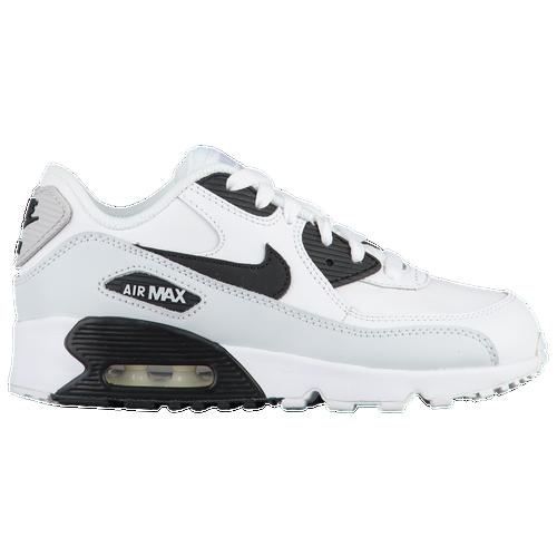 56423a4a0a8 Nike Air Max 90 - Boys  Preschool - Running - Shoes - White Black Pure  Platinum White