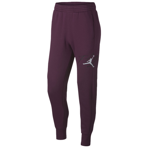 Jordan Flight Graphic Fleece Pants - Men's Basketball - Bordeaux/Anthracite/Reflective Silver 33493609