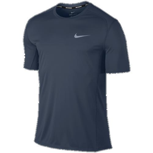 Nike Dri-FIT Miler Short Sleeve T-Shirt - Men's Running - Thunder Blue/Thunder Blue 33591471