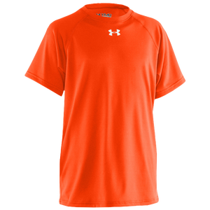 Under Armour Team Locker S/S Shirt - Boys' Grade School - Dark Orange/White