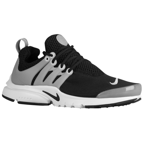 Nike Presto - Boys' Grade School - Casual - Shoes - Black/Wolf Grey/White