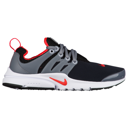 Nike Presto - Boys' Grade School - Casual - Shoes - Black/Max Orange/Cool  Grey/White