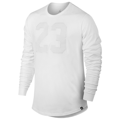 09c4426bfaf Jordan Retro 6 Long Sleeve T-Shirt - Men's - Basketball - Clothing -  White/White