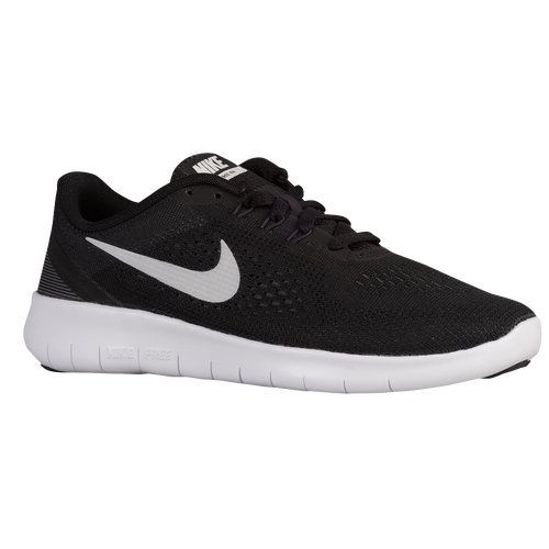 Nike Free RN  Boys Grade School  Running  Shoes  BlackMetallic Silver Anthracite