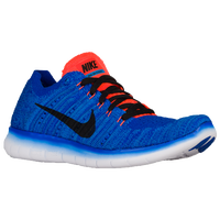 nike free run flyknit blue and orange