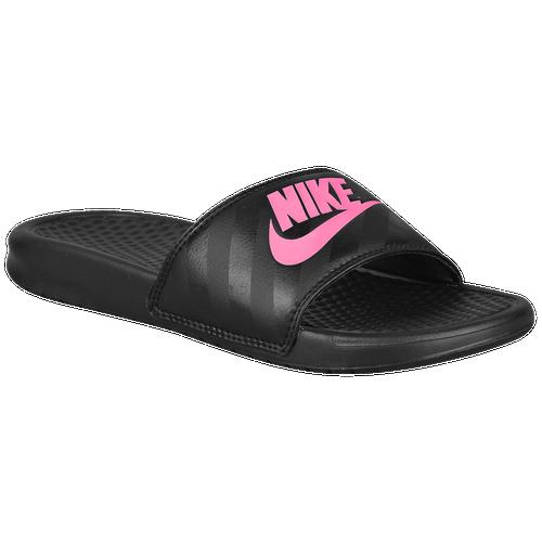 60c1f75a7729 Nike Benassi JDI Slide - Women s - Casual - Shoes - Black Vivid Pink