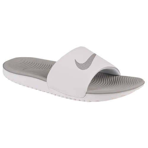 4fe28149aeec Nike Kawa Slide - Women s - Casual - Shoes - White Metallic Silver
