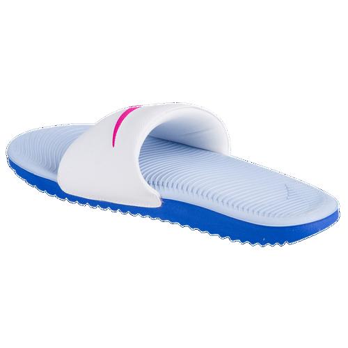 e2f2d0ac1aa66 Nike Kawa Slide - Women s - Casual - Shoes - White Fire Pink Coment Blue  Aluminum
