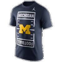 b3e5010d365d4b Jordan College JDI Field T-Shirt - Men s - Michigan Wolverines - Navy    White