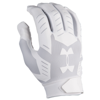 Under Armour F6 Football Gloves - Men's - All White / White