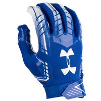 Under Armour F6 Football Gloves - Men's - Blue / White