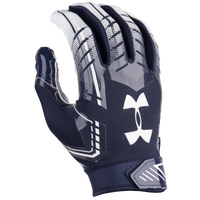 Under Armour F6 Football Gloves - Men's - Navy / White