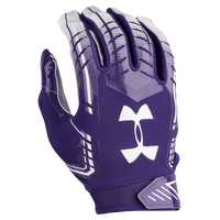 Under Armour F6 Football Gloves - Men's - Purple / White