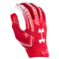 Under Armour F6 Football Gloves - Men's - Red / White