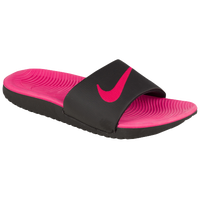 Nike Kawa Slide - Girls' Preschool - Black / Pink