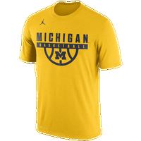 d32ebc62a21e6b Jordan College Basketball Legend T-Shirt - Men s - Michigan Wolverines -  Yellow   Navy