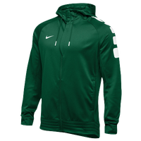 Nike Team Elite Stripe Full Zip Hoodie - Men's - Dark Green / White