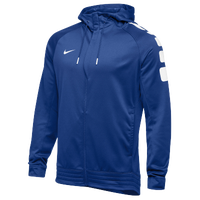 Nike Team Elite Stripe Full Zip Hoodie - Men's - Blue / White