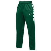 Nike Team Elite Stripe Pants - Men's - Dark Green / White