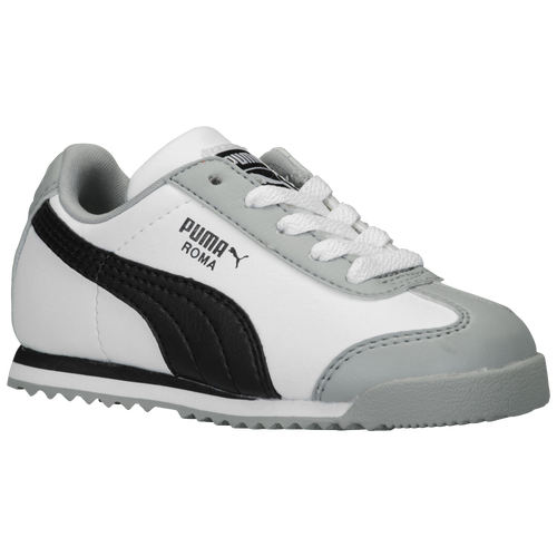 PUMA Roma - Boys' Toddler - Training - Shoes - White/Black/Limestone Grey