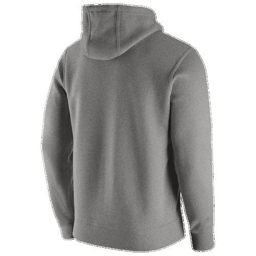 Discounts Nike College Team Club Hoodie Dark Grey Heather For Men On Sale