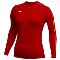 Nike Team Authentic Dry 1/2 Zip Top - Women's - Red
