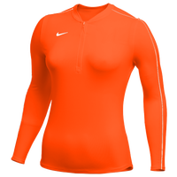 Nike Team Authentic Dry 1/2 Zip Top - Women's - Orange