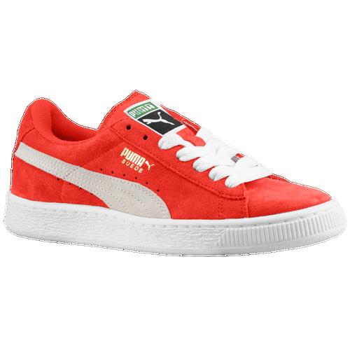 PUMA Suede Classic - Boys  Grade School - Basketball - Shoes - High Risk Red  White 580f573ec