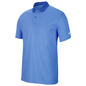 Nike Dry Victory Solid Golf Polo - Men's - University Blue/White