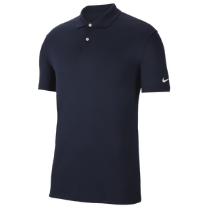 Nike Dry Victory Solid Golf Polo - Men's - College Navy/White
