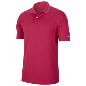 Nike Dry Victory Solid Golf Polo - Men's - Vivid Pink/White