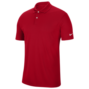 Nike Dry Victory Solid Golf Polo - Men's - University Red/White