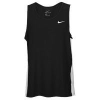 Nike Team Dry Miler Tank - Men's - Black / White