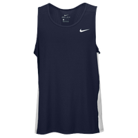 Nike Team Dry Miler Tank - Men's - Navy / White