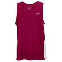 Nike Team Dry Miler Tank - Men's - Cardinal / White