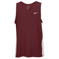 Nike Team Dry Miler Tank - Men's - Maroon / White