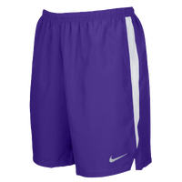 "Nike Team Dry Challenger 7"" Shorts - Men's - Purple / White"