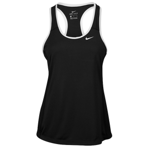 Nike Team Dry Tank - Women's - Black/White