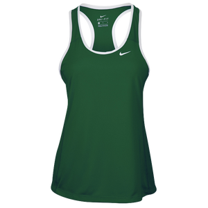 Nike Team Dry Tank - Women's - Dark Green/White