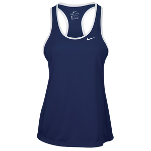 Nike Team Dry Tank - Women's - Navy/White