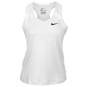 Nike Team Power Stock Race Day Tank - Women's - White/Black
