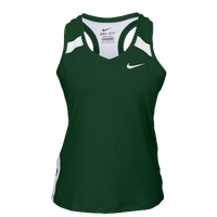 Nike Team Power Stock Race Day Tank - Women's - Dark Green / White