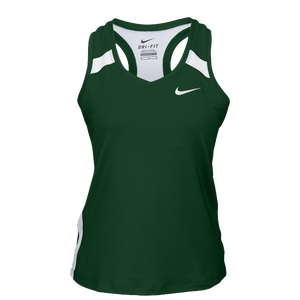 Nike Team Power Stock Race Day Tank - Women's - Dark Green/White