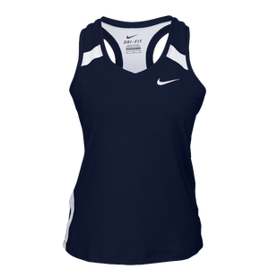 Nike Team Power Stock Race Day Tank - Women's - Navy/White