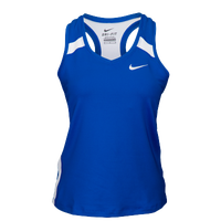 Nike Team Power Stock Race Day Tank - Women's - Blue / White