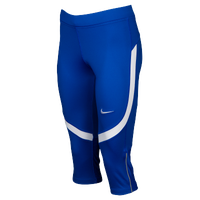 Nike Team Power Stock Race Day Capris - Women's - Blue / White