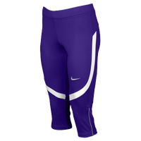 Nike Team Power Stock Race Day Capris - Women's - Purple / White